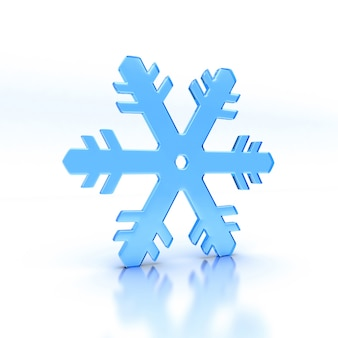 Illustration du flocon de neige en verre bleu