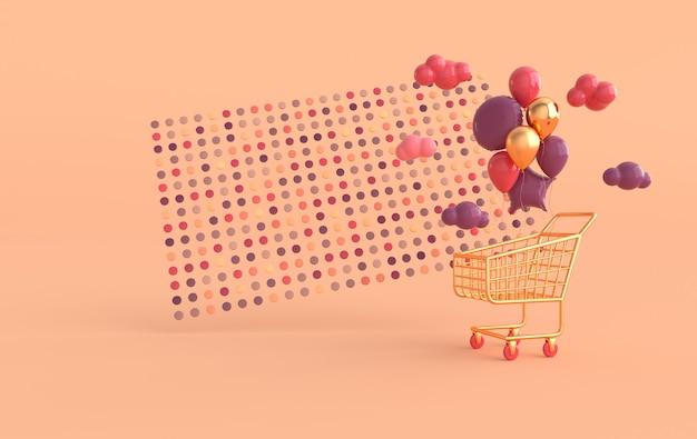 Illustration du panier de ballons colorés