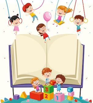 Illustration d'éléments d'école