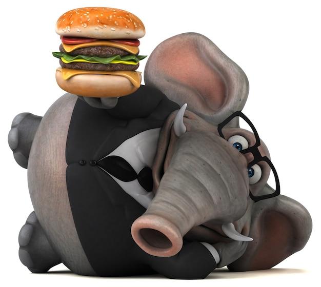Illustration d'éléphant amusant