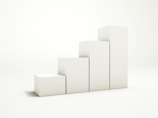 Illustration des étapes sur le modèle blanc