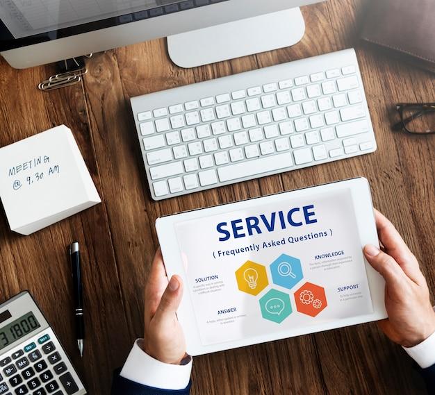Illustration de la faq du service client
