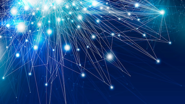 Illustration de fond abstrait connexion réseau mondial