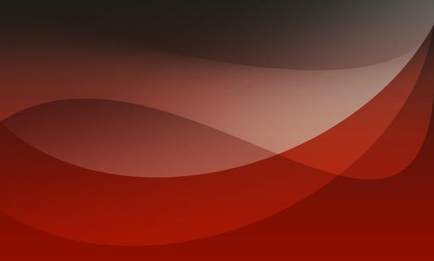 Illustration de fond abstrait courbe rouge noir