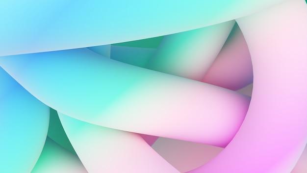 Illustration de fond abstrait des lignes animées, il y a une coordination des lignes colorées, rendu 3d