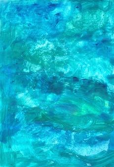 Illustration de fond bleu élégant avec de la peinture de couleur indigo aquarelle peinte à la main