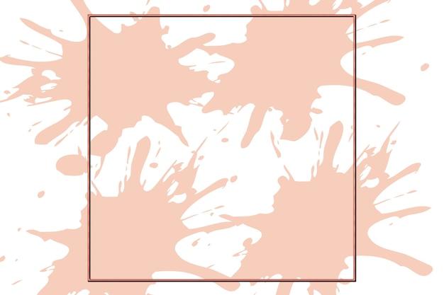 Illustration de fond de logo abstrait carré de cuivre avec fond de taches roses