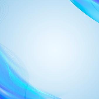 Illustration de fond à motifs de courbe bleue