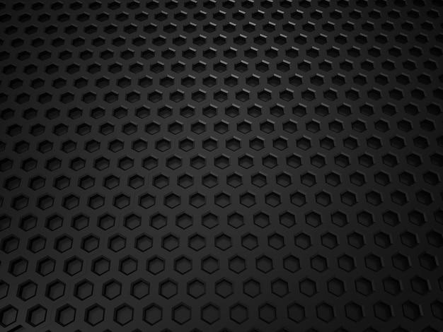 Illustration de fond texturé métallique noir avec des cellules