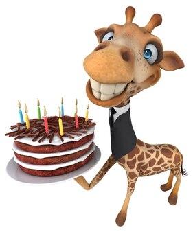 Illustration de girafe amusante
