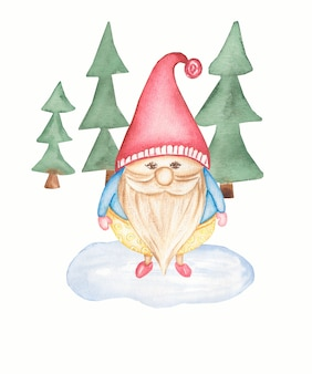 Illustration de gnome mignon isolé