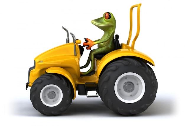 Illustration de grenouille drôle
