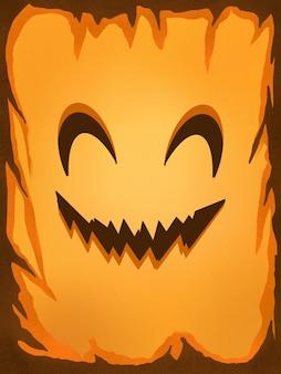 Illustration halloween sourire citrouille wallpaper