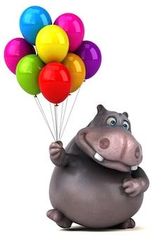 Illustration de l'hippopotame amusant