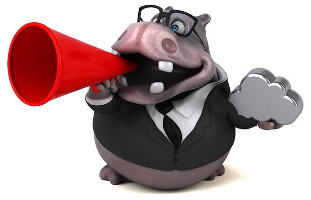 Illustration d'hippopotame amusant