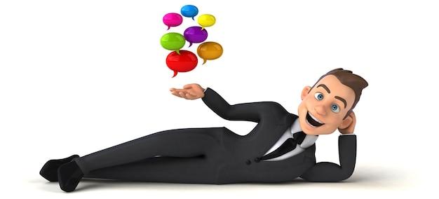 Illustration d'homme d'affaires amusant