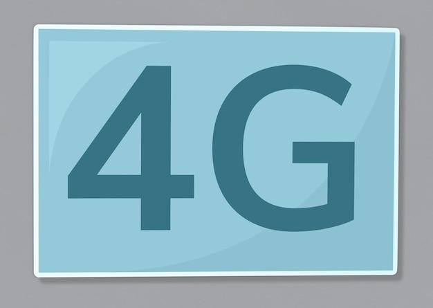 Illustration d'icône de communication réseau 4g