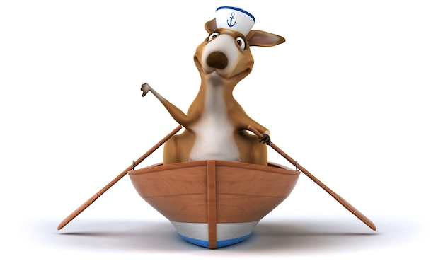 Illustration de kangourou amusant