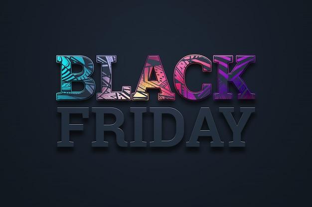 Illustration de lettrage vente vendredi noir