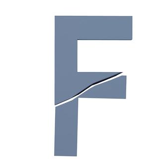 Illustration de lettres cassées isolé, fond blanc