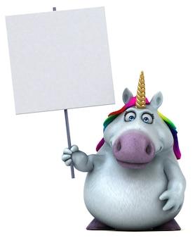 Illustration de licorne amusante