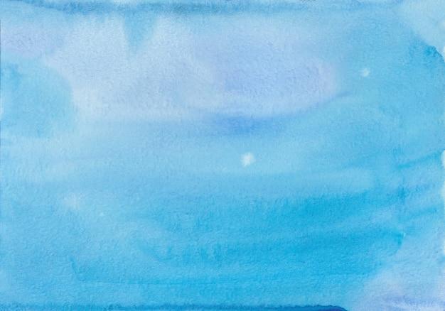 Illustration à la main moderne abstrait bleu aquarelle fond
