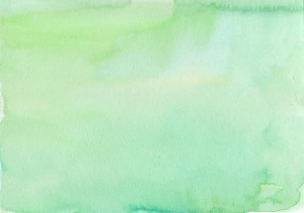 Illustration à la main moderne de fond aquarelle vert abstrait