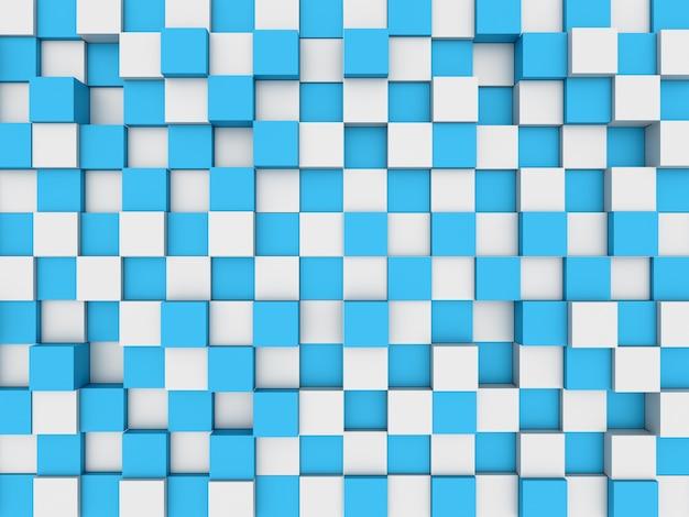 Illustration de la mosaïque abstraite en trois dimensions gris et bleu