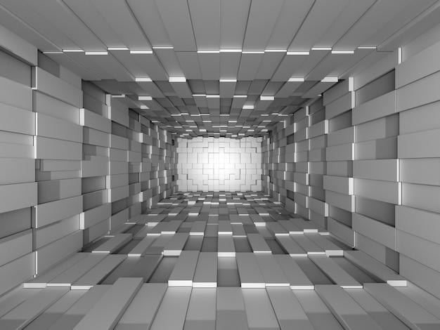 Illustration de la mosaïque abstraite en trois dimensions gris