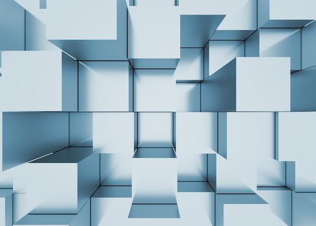 Illustration de la mosaïque abstraite en trois dimensions