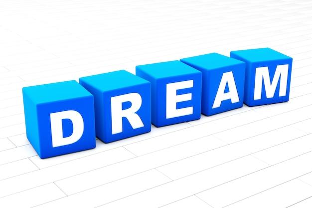 Illustration de mot de rêve