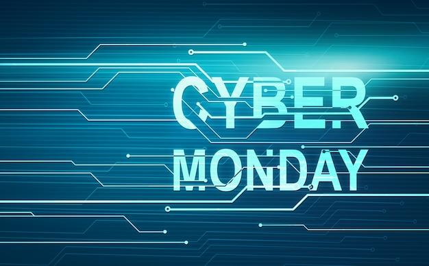 Illustration numérique abstraite pour cyber lundi sur circuit