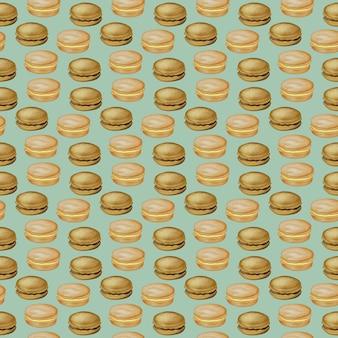 Illustration numérique de la nourriture modèle sans couture hamburgers hamburgers sandwichs hamburgers burger de poulet