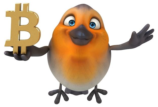 Illustration d'oiseau amusant