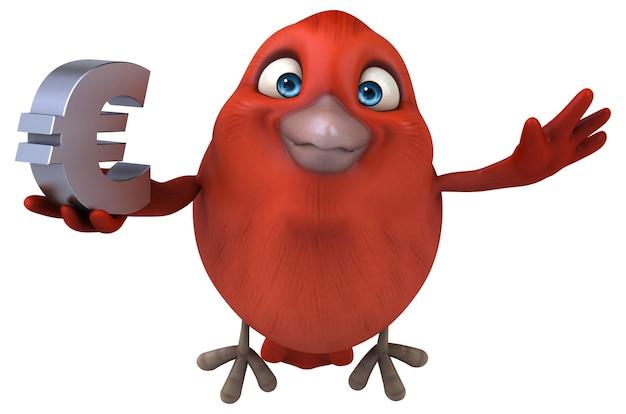 Illustration d'oiseau rouge