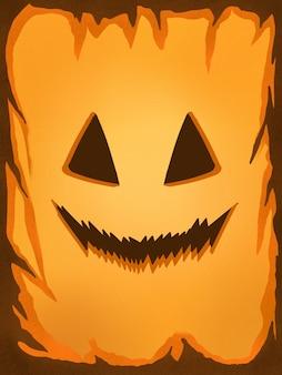 Illustration peinture halloween sourire citrouille wallpaper
