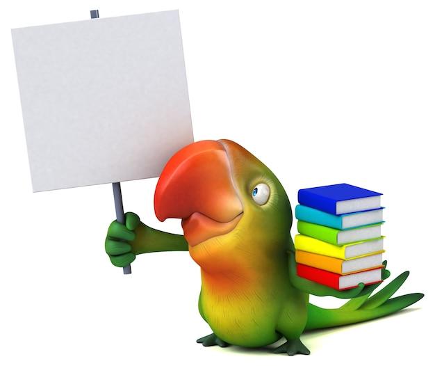 Illustration de perroquet amusant