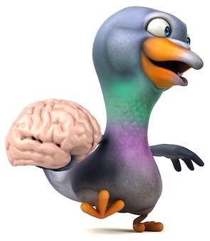 Illustration de pigeon amusant