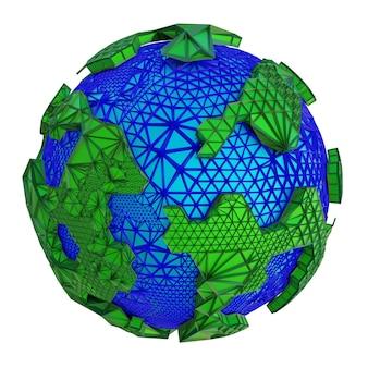 Illustration de planète abstraite en rendu 3d