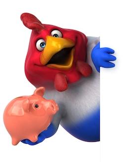 Illustration de poulet amusant