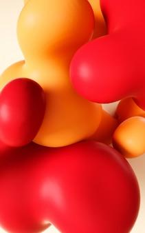 Illustration de rendu 3d. art abstrait fluide fluide lisse.