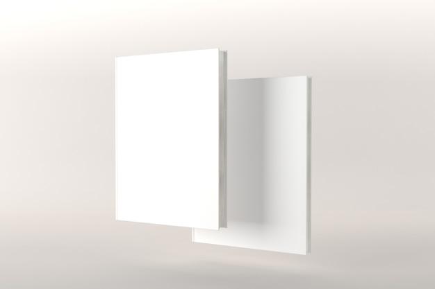 Illustration de rendu 3d de maquette de couverture de livre