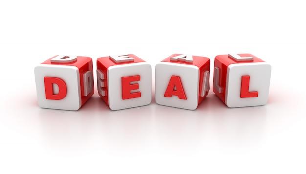 Illustration de rendu des blocs de tuiles avec deal word