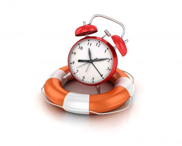 Illustration de rendu de l'horloge avec ceinture de sauvetage