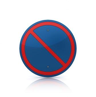 Illustration de rendu de panneau de signalisation vide