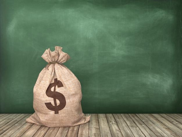 Illustration de rendu de sac d'argent