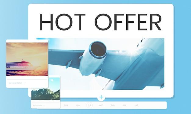 Illustration de la réservation d'un billet d'avion pour une destination de voyage