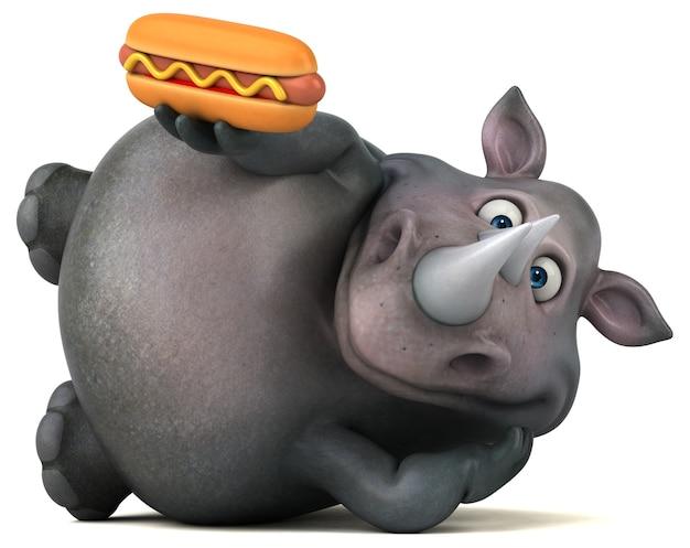 Illustration de rhinocéros amusant