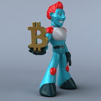 Illustration de robot rouge
