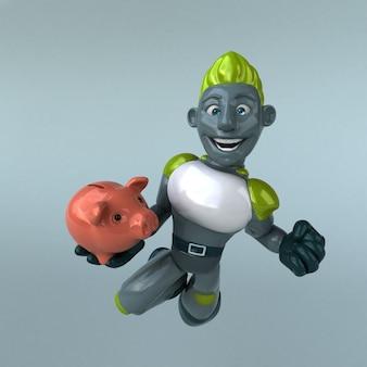 Illustration de robot vert